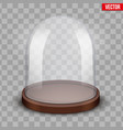 glass dome on transparent background vector image