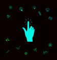 hand click icon graphic elements for your vector image