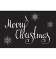 Hand written inscription Merry Christmas vector image