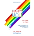 Happy Holi party invitation poster vector image