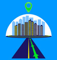 highway city route navigator mark flat style vector image