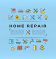 home repair flyer construction poster house vector image vector image