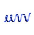 horizontal blue serpentine mockup realistic style vector image vector image