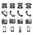 icon telephone classic to smartphone vector image vector image