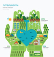 Infographic nature care hand shape template vector image vector image