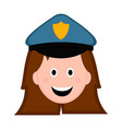 isolated female police officer avatar vector image