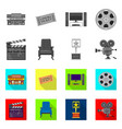isolated object of television and filming icon vector image vector image