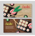 Japanese Food web Banner Japan Sushi vector image vector image