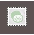 Kiwi stamp Outline vector image