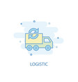 logistic line concept simple line icon colored vector image