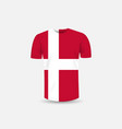 mens t-shirt icon and denmark flag vector image vector image