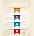 modern infographics options template with paper vector image vector image