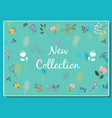 new collection floral card vector image vector image