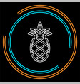 pineapple icon tropical fruit healthy vector image