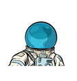 portrait astronaut helmet isolated on white vector image vector image