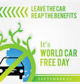 quote car free day design for element design in vector image vector image