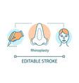 rhinoplasty concept icon vector image vector image