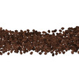 roasted coffee beans beans isolated on vector image