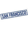 san francisco blue square stamp vector image vector image