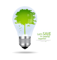 Save the world Light bulb with tree inside vector image vector image