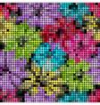 Seamless floral mosaic pattern