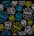 Seamless pattern skull in headdress redskin vector image vector image