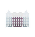 set of amsterdam style colored houses facades of vector image