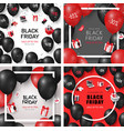 set of black friday sale cards vector image vector image