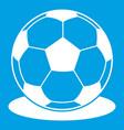Soccer ball icon white vector image