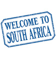 South Africa - welcome blue vintage isolated label vector image vector image