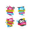 special discount premium sale tag collectionweb vector image