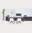 stylish workplace with computer monitor at office vector image vector image