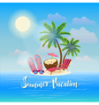 Summer Beach Vacation Exotic Tropical Island vector image vector image