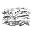 summer day alpine village in mountains vector image