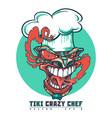 tiki crazy chef vector image vector image