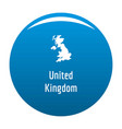 united kingdom map in black simple vector image vector image