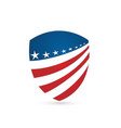 usa flag emblem protection shield icon vector image