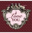 vintage valentines vector image