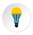 Yellow lamp icon flat style vector image