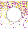confetti falling bright explosion isolated vector image