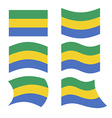 Gabon flag Set of flags of Gabonese Republic in vector image