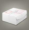 Parcel boxes white box design background vector image