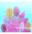 abstract forest on hill colorful background vector image vector image
