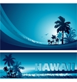 Abstract tropical background vector image vector image
