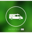 ambulance icon medical urgent first relief vector image