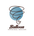 balloon original design logo template vector image