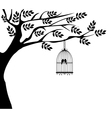 bird cage tree vector image vector image
