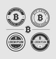 bit coin logo design setprint vector image vector image