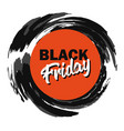 black friday advertising price tag paint stroke vector image vector image