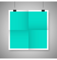 Blank paper poster vector image vector image
